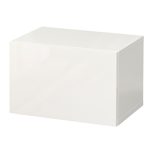 BESTÅ - 上牆式貯物組合, white/Selsviken high-gloss/white   IKEA 香港及澳門 - PE847255_S4