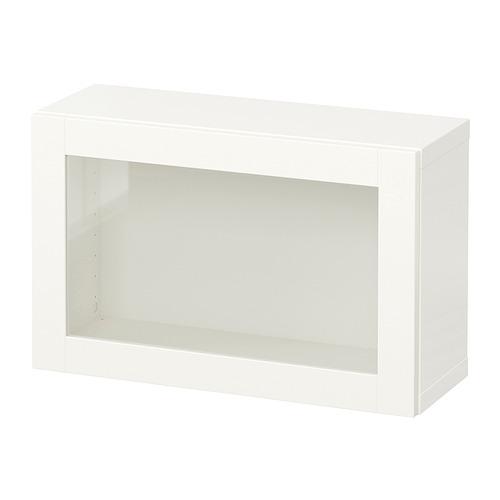 BESTÅ - 上牆式貯物組合, white/Sindvik white clear glass   IKEA 香港及澳門 - PE847271_S4