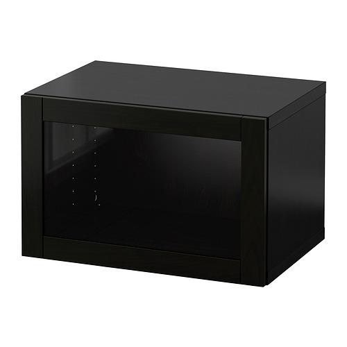 BESTÅ - 上牆式貯物組合, black-brown/Sindvik black-brown clear glass   IKEA 香港及澳門 - PE847261_S4