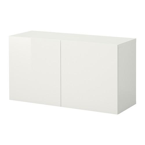 BESTÅ - 上牆式貯物組合, white/Selsviken high-gloss   IKEA 香港及澳門 - PE847279_S4