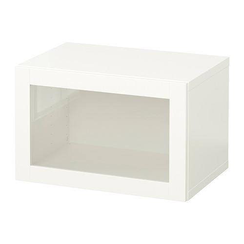 BESTÅ - 上牆式貯物組合, white/Sindvik white clear glass   IKEA 香港及澳門 - PE847284_S4