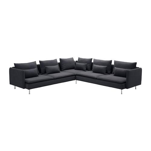 SÖDERHAMN - corner sofa, 6-seat, Samsta dark grey | IKEA Hong Kong and Macau - PE312375_S4