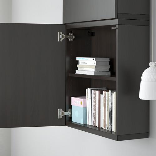 BESTÅ - 雙門吊櫃, black-brown/Lappviken black-brown   IKEA 香港及澳門 - PE561355_S4