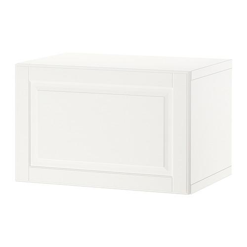 BESTÅ - 上牆式貯物組合, white/Ostvik white/clear glass   IKEA 香港及澳門 - PE847356_S4