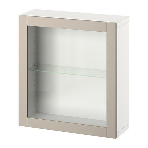 BESTÅ - 上牆式貯物組合, white/Sindvik light grey/beige   IKEA 香港及澳門 - PE847374_S4