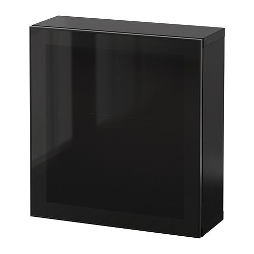 BESTÅ - 上牆式貯物組合, black-brown Glassvik/black smoked glass | IKEA 香港及澳門 - PE847360_S4