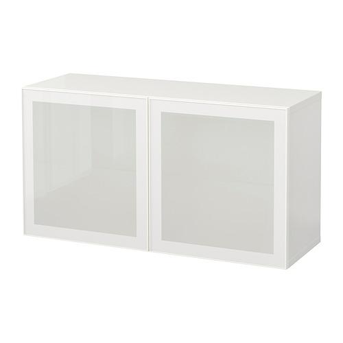 BESTÅ - 上牆式貯物組合, white/Glassvik frosted glass   IKEA 香港及澳門 - PE847361_S4