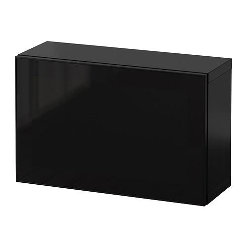 BESTÅ - 上牆式貯物組合, black-brown Glassvik/black smoked glass   IKEA 香港及澳門 - PE847363_S4