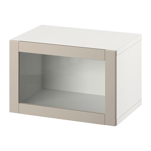 BESTÅ - 上牆式貯物組合, white/Sindvik light grey-beige   IKEA 香港及澳門 - PE847373_S4