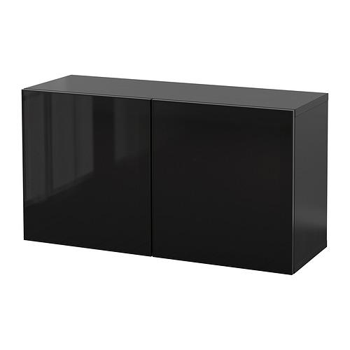 BESTÅ - 上牆式貯物組合, black-brown Glassvik/black smoked glass   IKEA 香港及澳門 - PE847382_S4