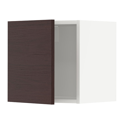 METOD - wall cabinet, white Askersund/dark brown ash effect | IKEA Hong Kong and Macau - PE780474_S4