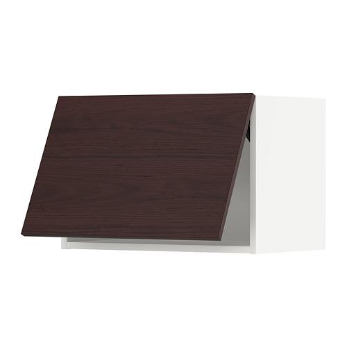 METOD - wall cabinet horizontal, white Askersund/dark brown ash effect | IKEA Hong Kong and Macau - PE780500_S4