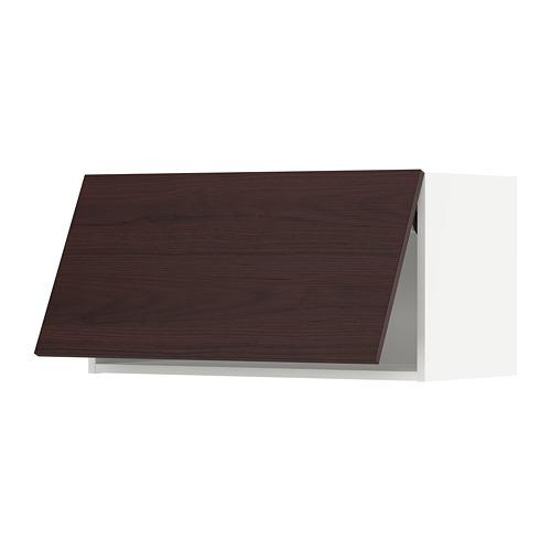METOD - wall cabinet horizontal w push-open, white Askersund/dark brown ash effect | IKEA 香港及澳門 - PE780485_S4