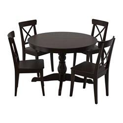 INGATORP - 一檯四椅, 黑色/黑褐色 | IKEA 香港及澳門 - PE547811_S3