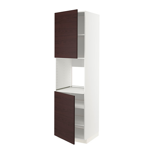 METOD - high cab f oven w 2 doors/shelves, white Askersund/dark brown ash effect   IKEA Hong Kong and Macau - PE780532_S4
