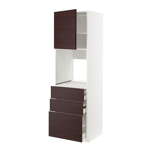 METOD/MAXIMERA 焗爐用高櫃連抽屜櫃門組合