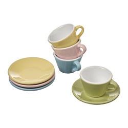DUKTIG - 8-piece cup/saucer playset, mixed colours   IKEA Hong Kong and Macau - PE803213_S3