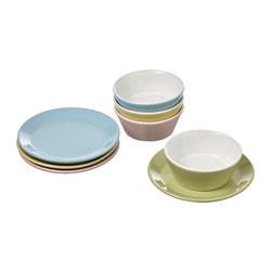 DUKTIG - 8-piece plate/bowl playset, mixed colours | IKEA 香港及澳門 - PE803214_S3