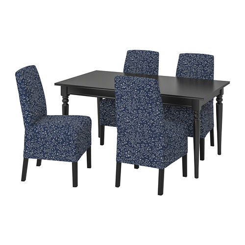 INGATORP/BERGMUND - 一檯四椅, 黑色/Ryrane 深藍色   IKEA 香港及澳門 - PE803224_S4