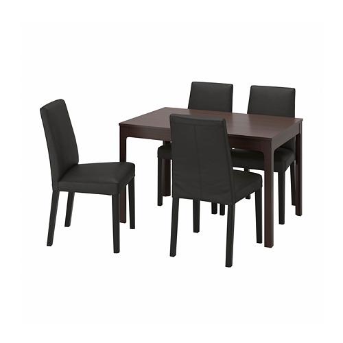 BERGMUND/EKEDALEN - 一檯四椅, 深褐色/Glose 黑色 | IKEA 香港及澳門 - PE803229_S4