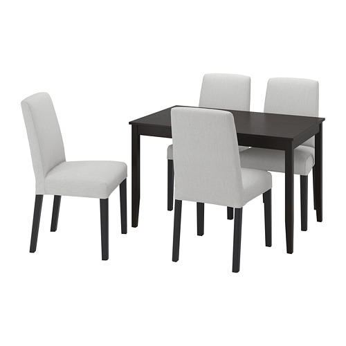 BERGMUND/LERHAMN - table and 4 chairs, black-brown/Orrsta light grey/black | IKEA Hong Kong and Macau - PE803233_S4
