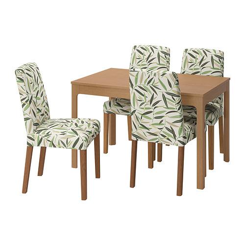 BERGMUND/EKEDALEN - 一檯四椅, oak/Fågelfors multicolour | IKEA 香港及澳門 - PE803236_S4