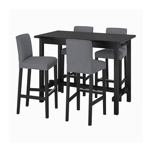 BERGMUND/NORDVIKEN bar table and 4 bar stools