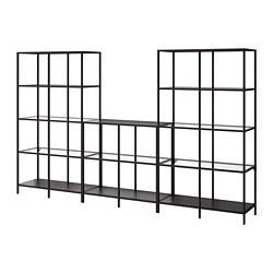 VITTSJÖ - 貯物組合, 棕黑色/玻璃 | IKEA 香港及澳門 - PE747944_S3