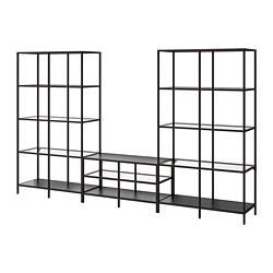 VITTSJÖ - 電視貯物組合, 棕黑色/玻璃 | IKEA 香港及澳門 - PE747948_S3