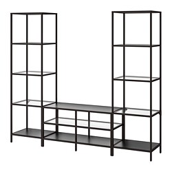 VITTSJÖ - 電視貯物組合, 棕黑色/玻璃 | IKEA 香港及澳門 - PE747950_S3