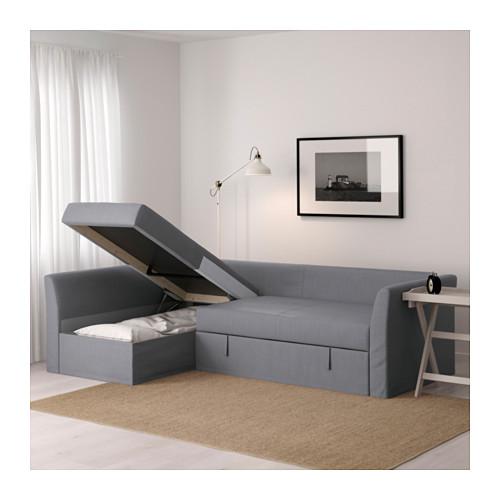 HOLMSUND - corner sofa-bed with storage, nordvalla medium grey   IKEA Hong Kong and Macau - PE602863_S4