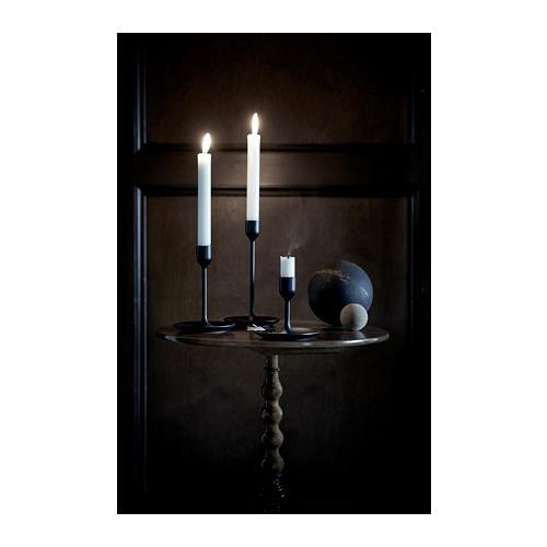 FULLTALIG - 燭台,3 件套裝, 黑色 | IKEA 香港及澳門 - PE659898_S4
