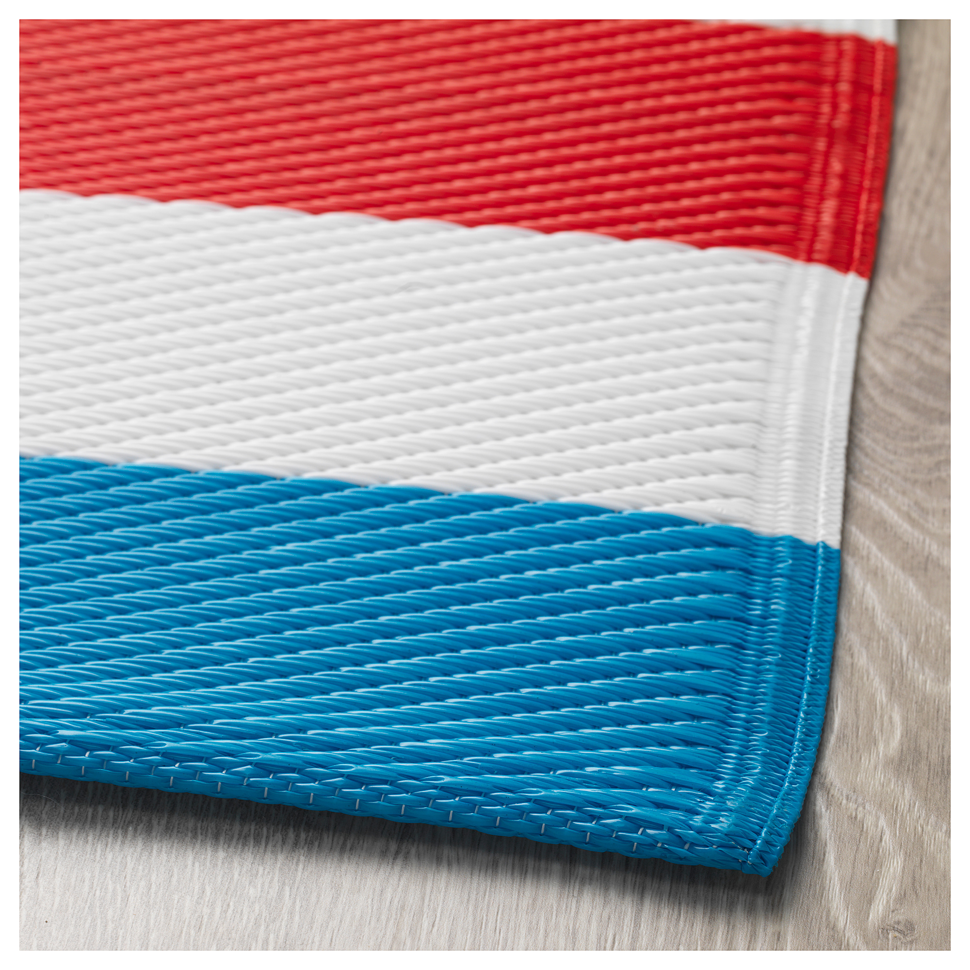 SOMMAR 2019 - rug, flatwoven, in/outdoor/blue white/red ...