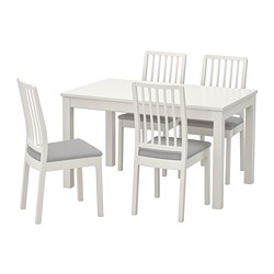 EKEDALEN/LANEBERG - 一檯四椅, 白色/白色 淺灰色 | IKEA 香港及澳門 - PE747985_S3
