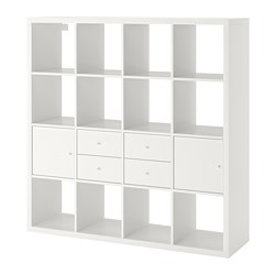 KALLAX - shelving unit with 4 inserts, white | IKEA Hong Kong and Macau - PE748004_S3