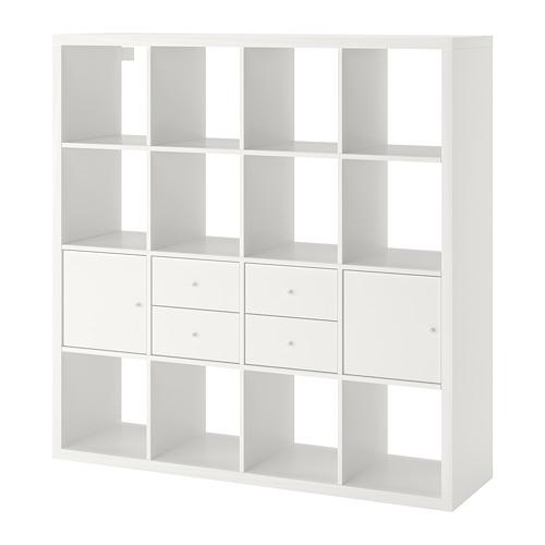 KALLAX - shelving unit with 4 inserts, white | IKEA Hong Kong and Macau - PE748004_S4
