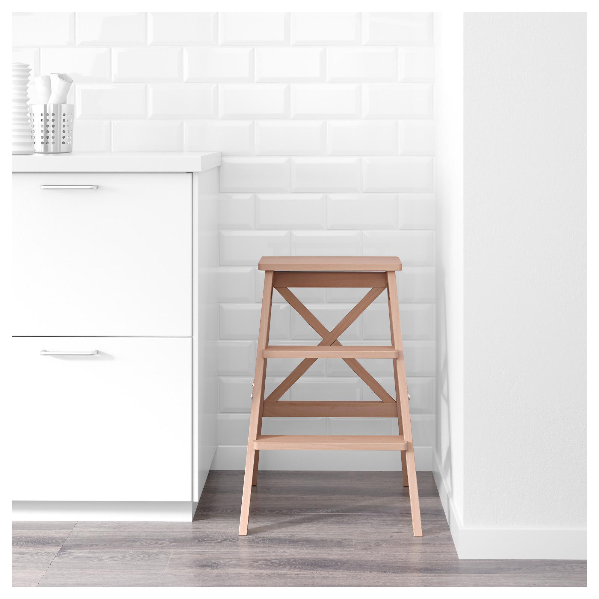 Awe Inspiring Bekvam Stepladder 3 Steps Beech Ikea Hong Kong Machost Co Dining Chair Design Ideas Machostcouk