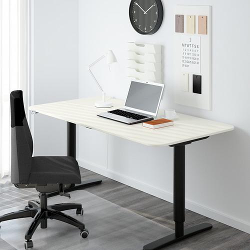BEKANT - 升降式書檯, 160x80cm, 白色/黑色 | IKEA 香港及澳門 - PE564841_S4