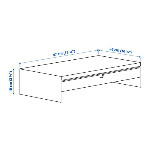 ELLOVEN - 螢幕架連抽屜, 47x26x10 cm, 炭黑色 | IKEA 香港及澳門 - PE803554_S4