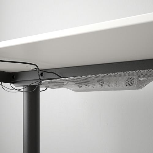BEKANT - 升降式書檯, 160x80cm, 白色/黑色 | IKEA 香港及澳門 - PE714348_S4