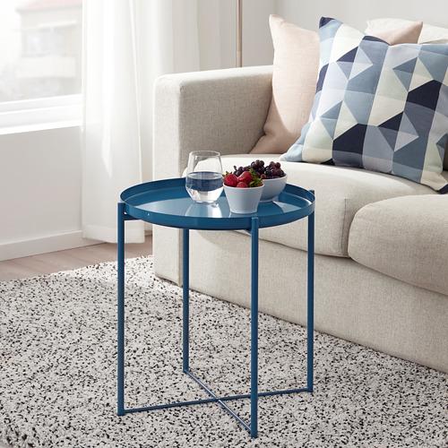GLADOM - 托盤几, 光面 深藍色   IKEA 香港及澳門 - PE803647_S4
