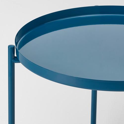 GLADOM - 托盤几, 光面 深藍色   IKEA 香港及澳門 - PE803646_S4