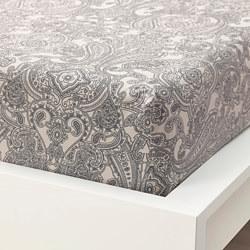 JÄTTEVALLMO - 單人床笠, 米黃色/深灰色 | IKEA 香港及澳門 - PE803681_S3
