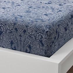 JÄTTEVALLMO - 單人床笠, 深藍色/白色 | IKEA 香港及澳門 - PE803676_S3