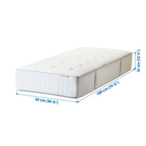 HOKKÅSEN pocket sprung mattress, extra firm, single