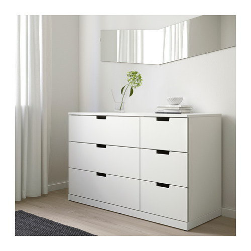 NORDLI - chest of 6 drawers, white | IKEA Hong Kong and Macau - PE660401_S4