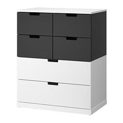 NORDLI - 六格抽屜櫃, 白色/炭黑色   IKEA 香港及澳門 - PE660436_S3