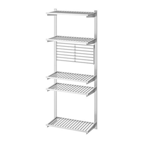 KUNGSFORS - 導軌連層板/牆架, 不銹鋼 | IKEA 香港及澳門 - PE748358_S4
