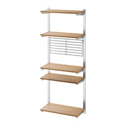 KUNGSFORS - suspension rail with shelf/wll grid, stainless steel/ash | IKEA Hong Kong and Macau - PE748373_S3