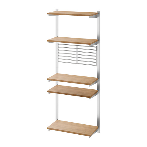 KUNGSFORS - suspension rail with shelf/wll grid, stainless steel/ash | IKEA Hong Kong and Macau - PE748373_S4
